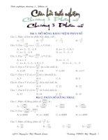 Bài tập trắc nghiệm chương III - Phân số