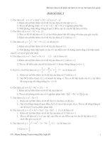 Chuyên đề hàm số bậc ba