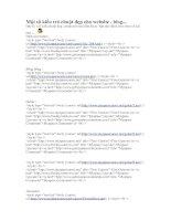 Một số kiểu trỏ chuột đẹp cho website