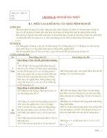 Giáo án Đại số 9 - Chương II