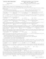 ĐỀ THI THỬ ĐẠI HỌC LẦN 1 NĂM 2013 Môn VẬT LÝ Khối: A, A1 TRƯỜNG THPT MINH KHAI