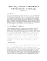 Overcoming Common Problems Related to Communicative Methodology