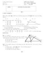 Đề kiểm tra 1 tiết Hình học 8 chương 3