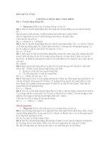 bài tập tự luận nâng cao chương 1, lớp 10