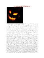 Lịch sư ngày Halloween