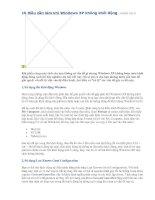 10 điều cần làm khi Windows XP không khởi động