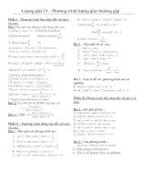 Các phương trình lượng giác thường gặp