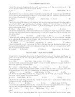 Bài tập ôn tập vật lý 10. Trắc nghiệm và tư luận