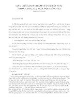 Cách lấy ví dụ trong môn Tiếng Việt