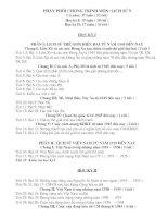 Phân phối chương trình môn: Lịch sử 9