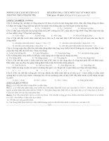 Kiểm tra 1 tiết HKII Vật Lý có đáp án