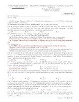 ĐỀ THI KHẢO SÁT CHẤT LƯỢNG LẦN 3 – NĂM HỌC 2011-2012  MÔN VẬT LÝ 12 TRƯỜNG THPT NÔNG CỐNG 2