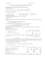 Các phương pháp giải mạch điện 1 chiều: PP1 Định luật ôm
