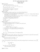 Hương dẩn giải đề thi toán vào lớp 10 năm 2009 2010