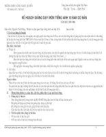 Kế hoạch giảng day khối 10 CB
