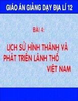 Lịch sử hình thành và phát triển lãnh thổ Việt Nam