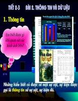 tiết 2-3: Thông tin và dữ liệu