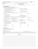 Đề kiểm tra số học chương 1