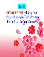 Bài 30 - Hình minh hoạ : Những hoạt động của Nguyễn Tất Thành sau khi ra đi tìm đường cứu nước