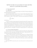 NHỮNG VẤN ĐỀ LÝ LUẬN CƠ BẢN VỀ TĂNG TRƯỞNG KINH TẾ VÀ XOÁ ĐÓI GIẢM NGHÈO