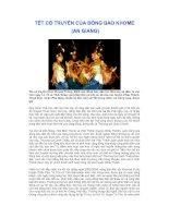 Phong tục tập quán Việt: Tết cổ truyền cùa người Khơme (An Giang)