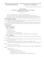 KE HOACH TO CHUC DAI HOI DOAN VIEN- LIEN DOI NAM HOC 2010-2011