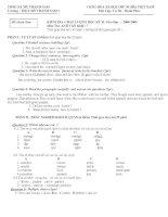 ĐỀ THI TIẾNG ANH 7-HK2 (08-09)