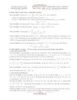 ĐỀ KHẢO SÁT CHẤT LƯỢNG LỚP 12, LẦN 1 - NĂM 2013 Môn: TOÁN; Khối: A và A1