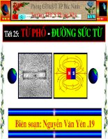 Tiết 25-Bài 23 Từ phổ - Đường sức từ
