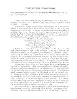 14 đề và bài làm đạt thủ khoa thi ĐHCĐ môn Ngữ văn