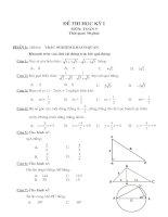 Đề thi học kỳ  1 Toán 9