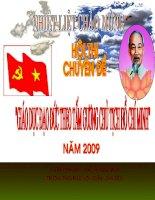 chuyên đề về Hồ Chí Minh