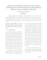 PHÂN LOẠI CHI PHÍ THEO CÁCH ỨNG XỬ VÀ ỨNG DỤNG CÁCH PHÂN LOẠI NÀY TRONG TỔ CHỨC VÀ ĐIỀU HÀNH HOẠT ĐỘNG TẠI CÔNG TY TNHH KMV (VIỆT NAM )