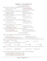 bài tập trắc nghiệm ôn thi TN