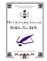 Các phương pháp Chứng minh BDT - THCS (hay)