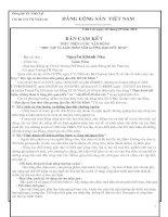 Bản Đăng Ký Học Tập Và Làm Theo Tấm Gương Đạo Đức Hồ Chí Minh