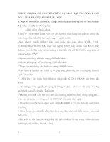 THỰC TRẠNG CƠ CẤU TỔ CHỨC BỘ MÁY TẠI CÔNG TY TNHH NN 1 THÀNH VIÊN CƠ KHÍ HÀ NỘI