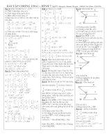 Bài tập chọn lọc Đại + Hình 7 chương I
