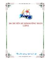 20 chuyen de boi duong toan 8