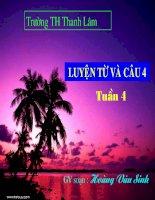 Tiếng Việt 4. Tập 1, Luyện từ và câu