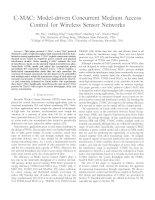 C-MAC: Model-driven Concurrent Medium AccessControl for Wireless Sensor Networks