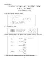 Chuyên đề Phương trình - Bất phương trình chứa căn thức