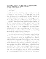 GIÁ TRỊ VĂN HÓA - QUYỀN LỰC ĐƯỢC ĐÁNH DẤU QUA HÀNH ĐỘNG NGÔN TỪ TRONG GIAO TIẾP GIA ĐÌNH NGƯỜI VIỆT