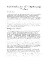 Team Teaching Tips for Foreign Language Teachers