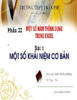 Bai giang Excel 2003