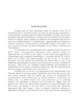 ETUDE POUR UNE AMELIORATION DE L'ENSEIGNEMENT DE L'EXPRESSION ORALE