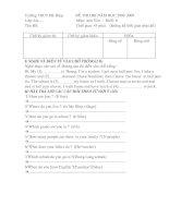 Đề Anh HKI 08-09 đề 2