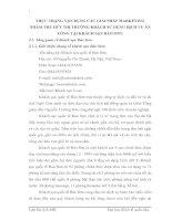 THỰC TRẠNG VẬN DỤNG CÁC GIẢI PHÁP MARKETING NHẰM THU HÚT THỊ TRƯỜNG KHÁCH SỬ DỤNG DỊCH VỤ ĂN UỐNG TẠI KHÁCH SẠN BẢO SƠN