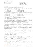 ĐỀ THI THỬ ĐẠI HỌC CAO ĐẲNG 2010  MÔN VẬT LÝ ĐỀ SỐ 2