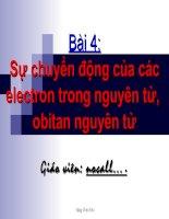 SỰ CHUYEN DONG CUA ELECTRON...AO